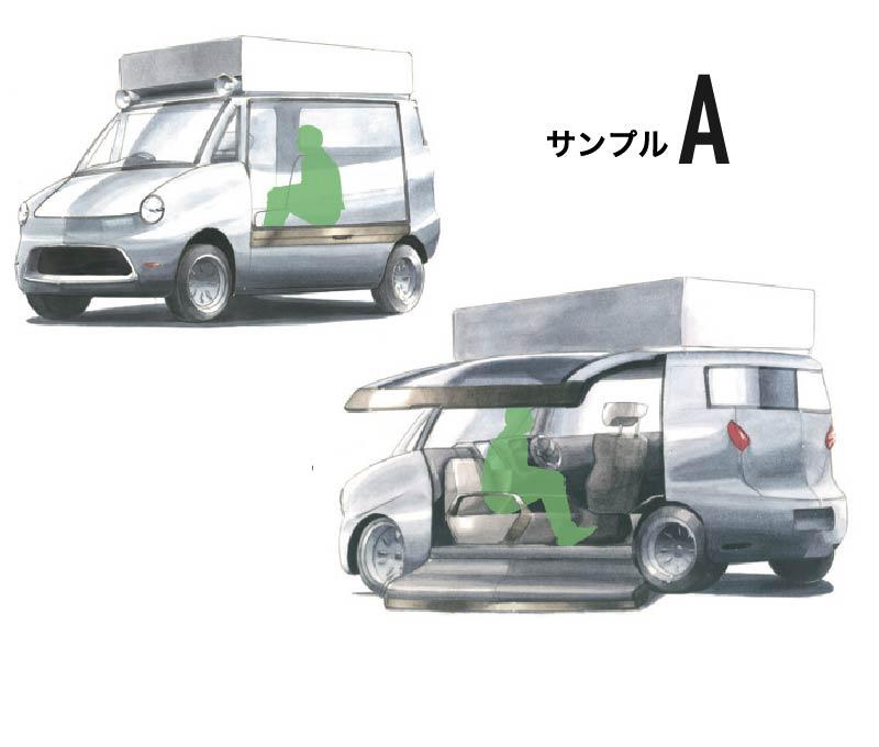 A案:サイドオープン井戸端カー