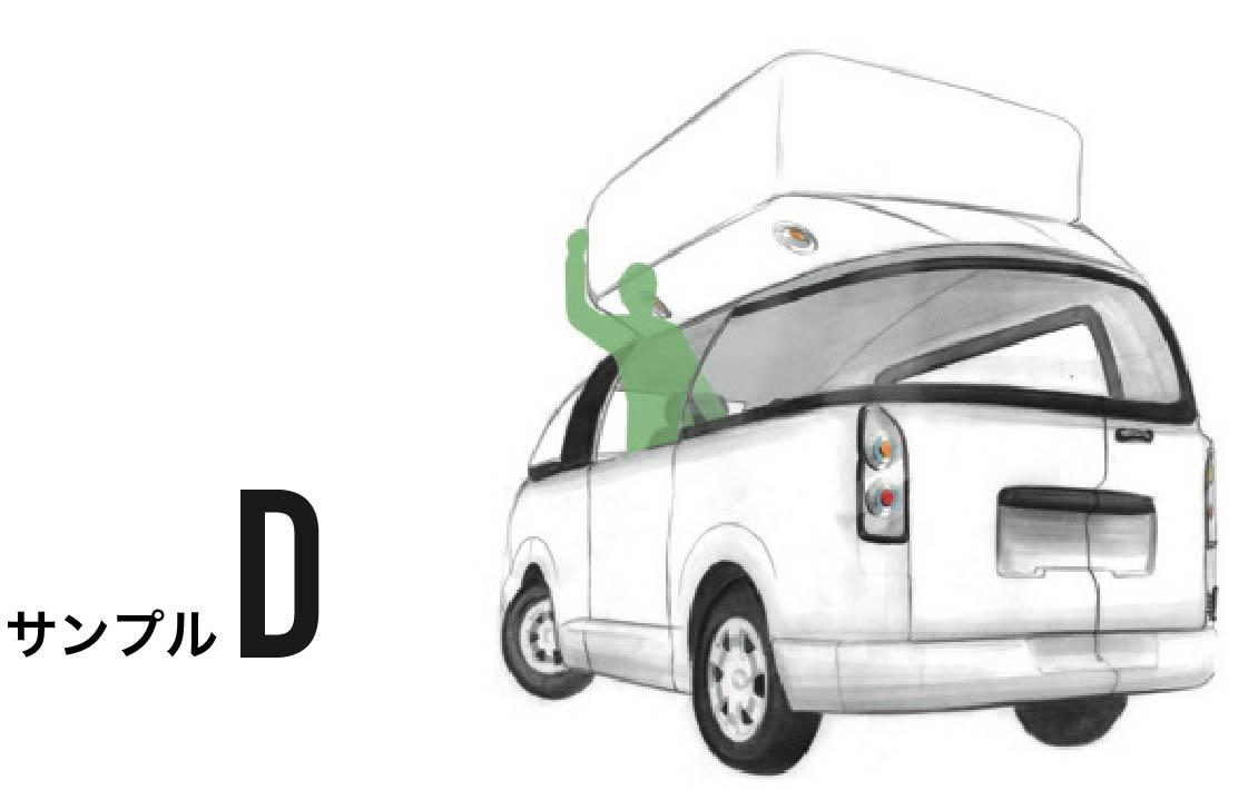 D案:サイド箱乗りカー